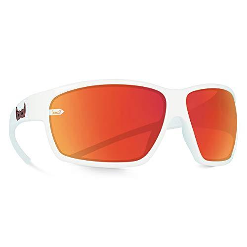 Gloryfy unbreakable eyewear (G15 white) - Unzerbrechliche Sonnenbrille, Sport, Damen, Herren, Rot-Verspiegelte Gläser