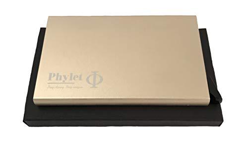Produkt: Multifunctional Cardholder | Model: GER | Marke: Phylet | Beschreibung: Verblüffend moderner Kartenhalter | sehr schmal | durchdachte Technik auswählbare Farben (Gold)
