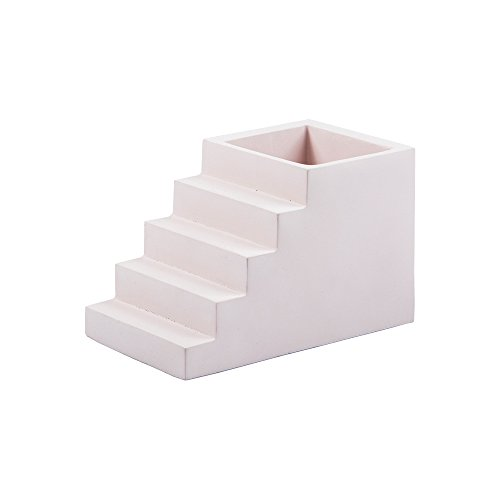 The Scala Collection Office Desk Organizers Shaped Like Stairs Made from Concrete (Pen Pot)