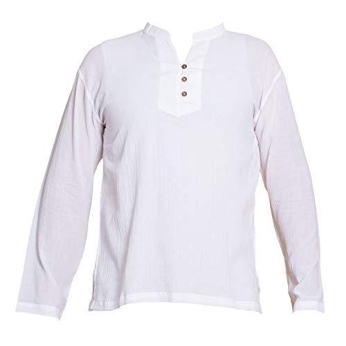 PANASIAM Shirt, 'K', 3button, white, XL, longsleeve
