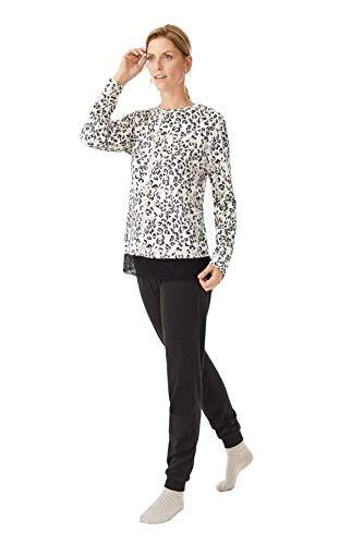 PROMISE Pijama de Mujer de Punto N10632 - Negro, L
