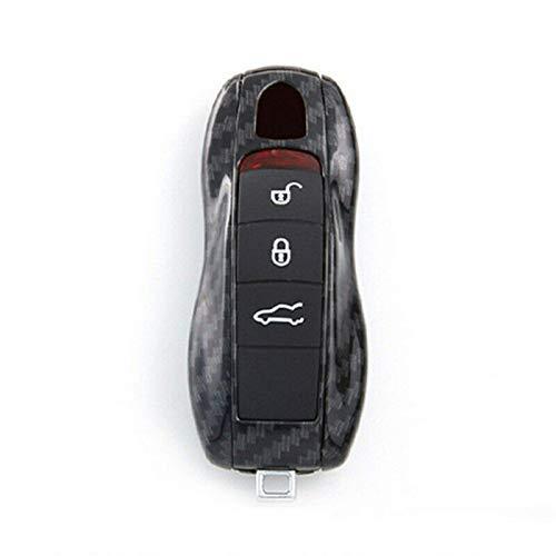 Zjxfff Carcasa de la Llave de Las Piezas de automóvil, para Porsche Panamera Cayenne Macan Funda de la Cubierta de la Llave Caja de la Llave de Plasticcar