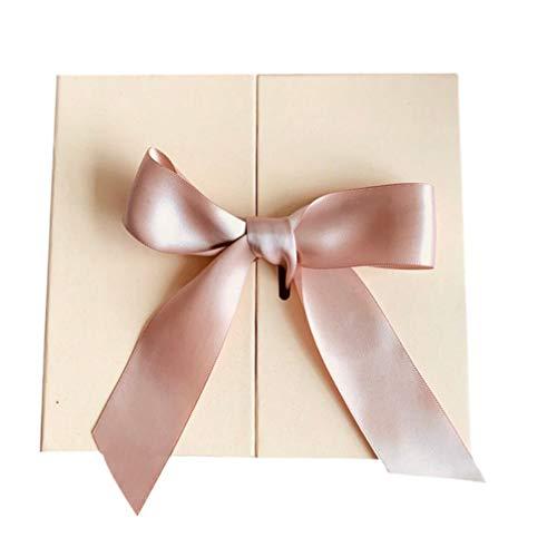 NUOBESTY Élégant Coffret Cadeau Saint Valentin avec Noeud Ruban Rose Bonbons Au Chocolat Parfum Organisateur de Boîte Conteneur pour Stockage de Cadeau D'anniversaire de Mariage Saint