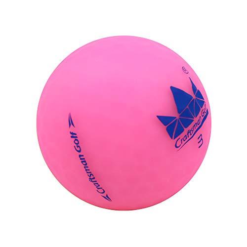 Craftsman Golf Crystal Pink 1 Stück Matte Golfbälle