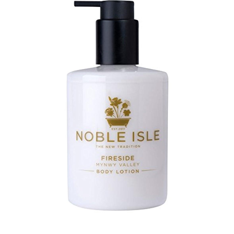 閉塞スケルトン運命高貴な島炉端谷のボディローション250ミリリットル x4 - Noble Isle Fireside Mynwy Valley Body Lotion 250ml (Pack of 4) [並行輸入品]