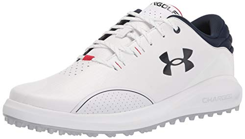 Under Armour Draw Sport Slide, Chaussure de Golf Homme, White/Academy/Academy (102), 25 EU Wide