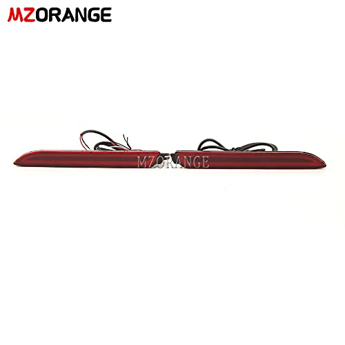 MZORANGE LED Rear Bumper Reflector Lights Rear Tail Light For Toyota Camry/RAV4/Reiz/Avalon/Venza/Matrix/Sienna For Lexus RC250 RC350 IS-F GX470 RX300 Function as Brake and Driving (Type A)