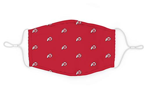 Top of the World NCAA Utah Utes Unisex All Over Print Team Icon Face Mask, Utah Utes Red, One Size (MTW_300)