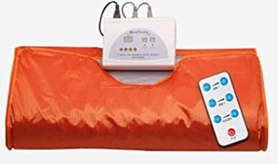 Kacsoo Digital Far-Infrared (FIR) Sauna Blanket with 2 Zone Controller Professional Detox Therapy Anti Ageing Beauty Machine Body Fitness Machine(Orange)