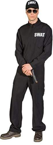 O7733-54-56 - Mono de polica para hombre, talla 54-56, color negro