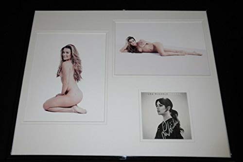 Lea Michele Signed Framed 16x20 Nude Photo Display Glee Scream Queens