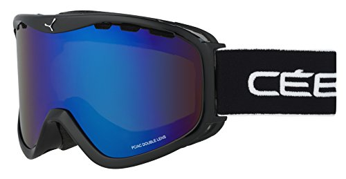 Cébé Unisex-Erwachsene Skibrille Ridge OTG Black Brown/Flash Blue, Nero/Yellow, L
