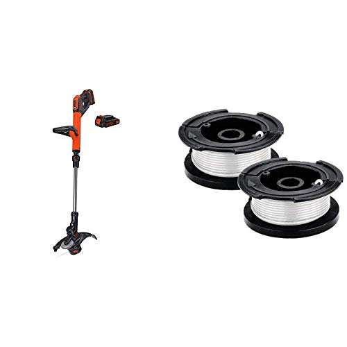 New BLACK+DECKER 20V MAX String Trimmer/Edger with Trimmer Line Replacement Spool, Autofeed 30 ft, 0...
