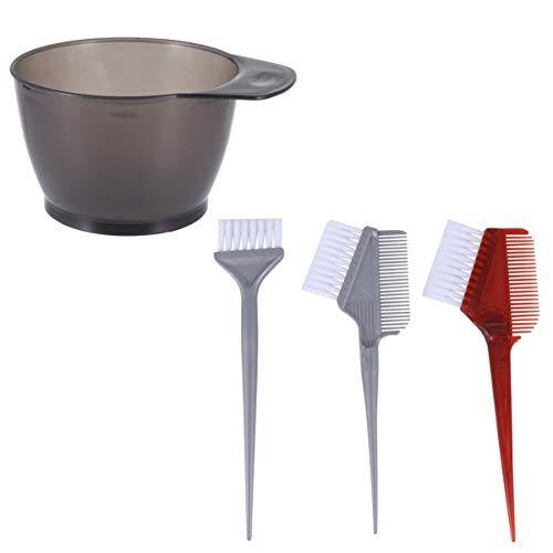 Solustre 2 Set 8Pcs Hair Dye Color Brushes Bowl Set Hair Coloring kit Hair Dye Kits Hair Color Brush Mixing Bowl Tools Hair Color Supplies