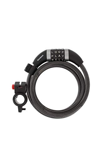 Wordlock Combination Bike Cable Lock – 4 Dial, 5 Foot, Black