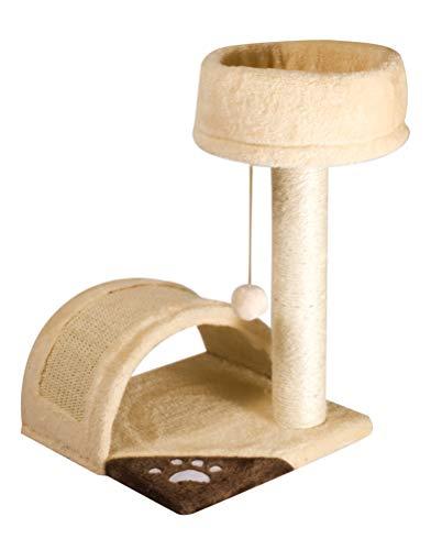 Cat&Rina Classic Minèu, Tiragraffi e Piattaforma Giochi con 1 Ripiano Superiore, Per il Gatto, Dimensioni cm 36 x 33 x 52 h