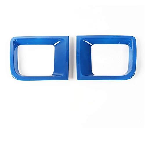 MMI-LX Auto Frame Parachoques Delantero Rejilla del Aire de Salida de ventilación del Ajuste de la Cubierta de la decoración Etiqueta ABS for Jeep Renegade 2015+ Car Styling by (Color Name : Blue)