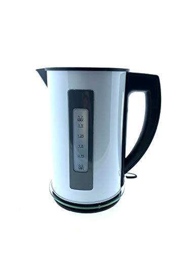 QUIGG Metall Wasserkocher Weiß 1,7 l blaue LED's 2200 W weiß