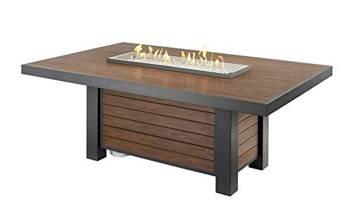 The Outdoor GreatRoom Company 1 Pc of Kenwood Fire Pit Table with Electronic Ignition, P