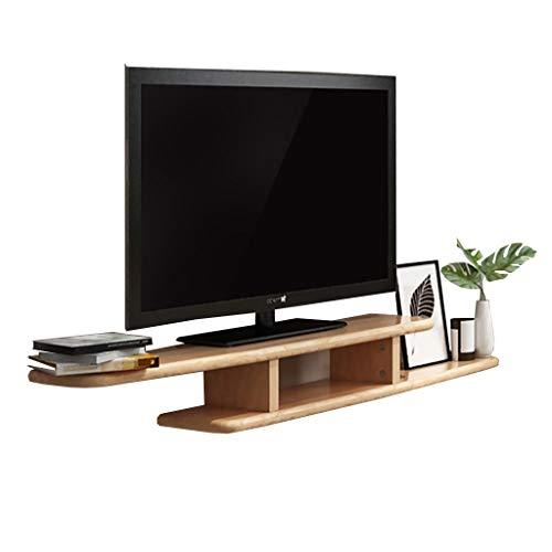 Bibliothèques Salon nordique en bois massif petit appartement set-top box rack meuble TV suspendu support de cloison rack bibliothèque murale (Color : B)