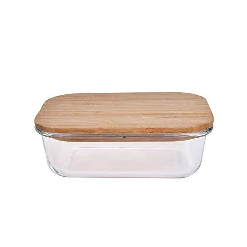 Umami YB - Fiambrera, cristal, transparente/bambú, S
