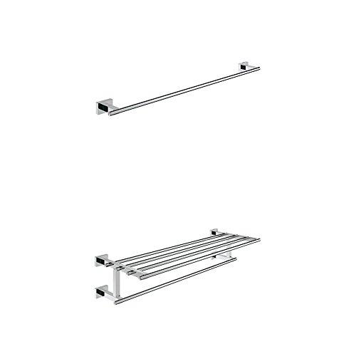 Grohe Badetuchhalter, 1 Stück, 40509001 + GROHE Essentials Cube | Accessoires - Handtuchhalter | 40512001