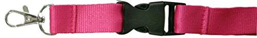 SBS Schlüsselband 25mm 10 Stück Pink Lanyard Trageband Bändel