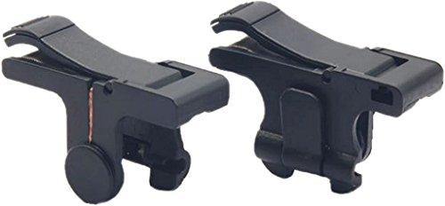 Disparador de juegos móvil [versión actualizada 2018], V4 Shoot y Aim Sensitive L1R1 + funda de transporte para PUBG/Fortnite/Reglas de supervivencia, consigue disparos para...