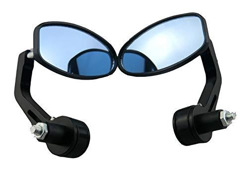 Accessori per Auto Evomosa Black 7/8'Manubrio Specchi End bis Classici Ovale Classici Classici Specchietti Laterali Chopper Bobber Cafe Racer ATV Quad Tenda retrovisore Accessori per motocicli