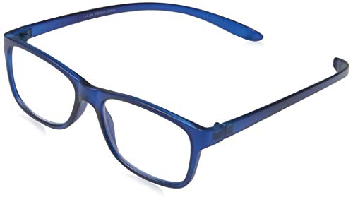 Gafas de lectura. Presbicia, vista cansada. Incluye funda de gafas (Azul, 1,50 dioptrias)