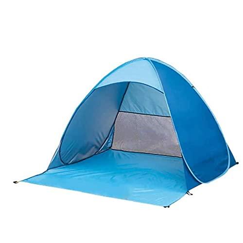 Surge la Tienda, Tienda Portable de la luz de la Playa, Sun automática Refugio para 2-3 Personas, Bolsa de Transporte piquetas Azul XL