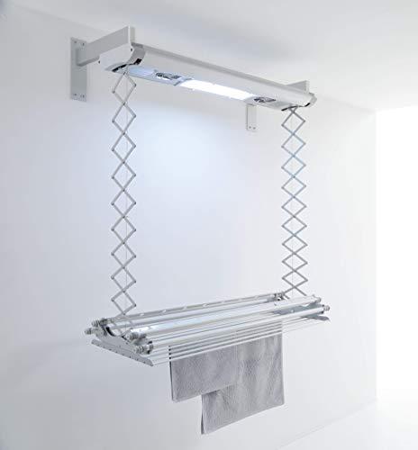 foxydry Air - Tendedero eléctrico de pared y techo, tendedero de ropa que ocupa poco espacio, con mando a distancia