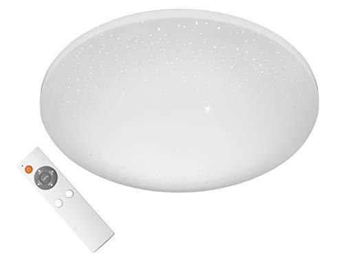 Vielseitige LED Sternenhimmel Deckenleuchte Ø 40cm mit Fernbedienung - Lichtfarbe einstellbar / stufenlos dimmbar / Nachtlichtfunktion - Badezimmer geeignet