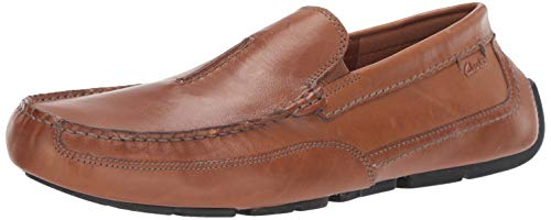 Clarks Men's Ashmont Race Driving Style Loafer, Light Tan Leather, 12 M US