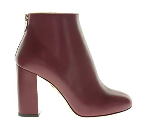 charlotte olympia ALBA Damen Schuhe Stiefelette Absatz Rot Leder, Größe:37
