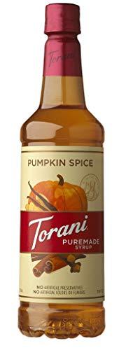 Torani Puremade Syrup, Pumpkin Spice Flavor, PET Bottle, Natural Flavors, 25.4 Fl. Oz., 750 mL