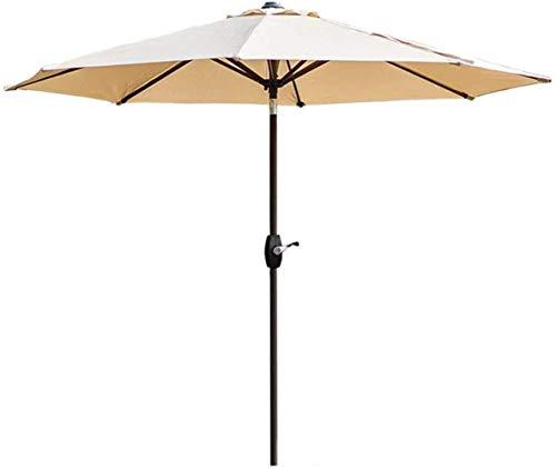 Ruinaier Housalwares Sun Parasol Umbrella Garden 9ft Patio Table Mesa Umbrella Garden Paraguas con inclinación y manivela para al aire libre, Mercado de eventos comerciales de playa, Camping, Piscina