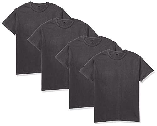 Hanes Men's Essentials Short Sleeve T-shirt Value Pack (4-pack),Smoke Grey,Large