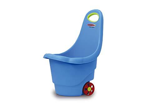 Jamara 460425 - Spielzeugtrolley Rolly Ron blau - verstauen oder transportieren von Spielsachen, 15 kg Zuladung, stabiler Kunststoff, leicht zu reinigen, mit Haltegriff
