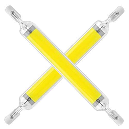 Bombilla LED R7S 78mm Blanco Frio 6000K-6500K, Regulable, 20W para Sustitución de Halógeno de 100W, AC 230V, 360 Grados Luz, LED R7S COB 78mm para Lámpara de Pared en el Baño, Plafones