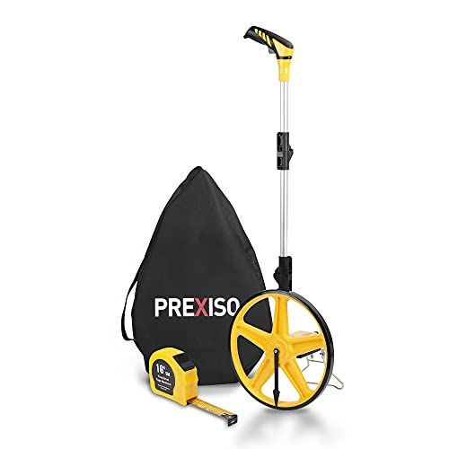PREXISO Measuring Wheels Collapsible Distance Measure Wheel in Feet and Inches, Measurement 0-9,999 Ft, with Carrying Bag and Tape
