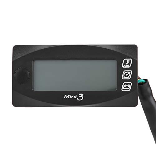 Keenso DC12V Motorrad Led Anzeige Digital Voltmeter Lufttemperatur Meter Uhr