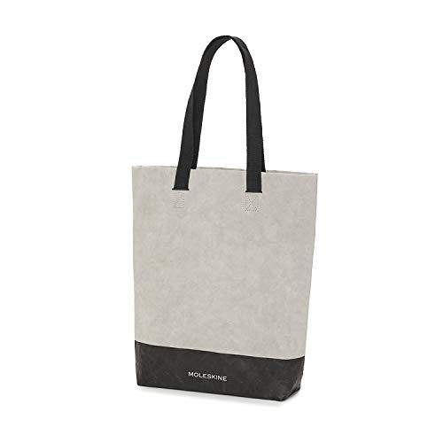 Moleskine Go Shopper Bianca Tasche aus Papier mit Griff aus Baumwolle, 11 x 15,75 x 3,25 cm, Blanko, Schwarz