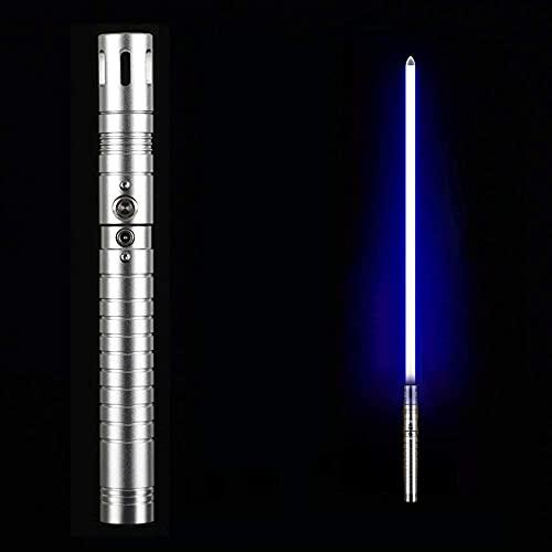GFKD Metal Lightsable Sable de Luces Sabador de luz Sable de luz Sable de Metal HILT 11 Discolor, niños y Juguetes para Adultos, Accesorios, Efecto de vibración de sonidoable de luz, Plata
