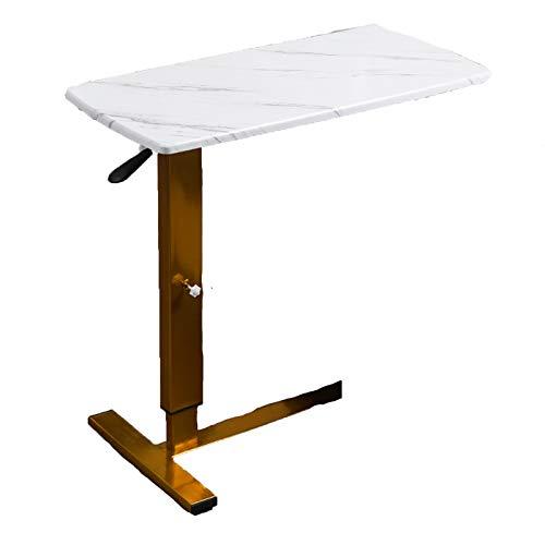 QYT-Laptop Schreibtisch, Beistelltisch Tragbarer Laptop-Tisch Klappbar Konferenztisch Schlafsofa Rolltisch mit 4 Rollen, Büro Arbeitstisch...