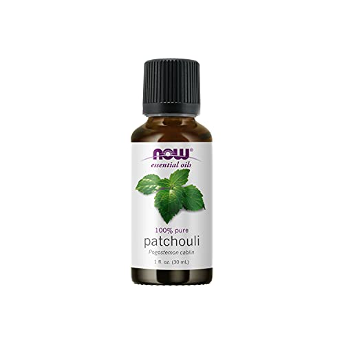 NOW Essential Oils, Patchouli Oil, Earthy Aromatherapy Scent, Steam Distilled, 100% Pure, Vegan, Child Resistant Cap, 1-Ounce
