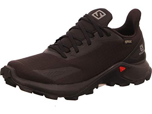 Salomon Damen Alphacross Blast GTX, Wasserdichte Trail Running Schuhe,Schwarz (Black/Black/Black),40 EU