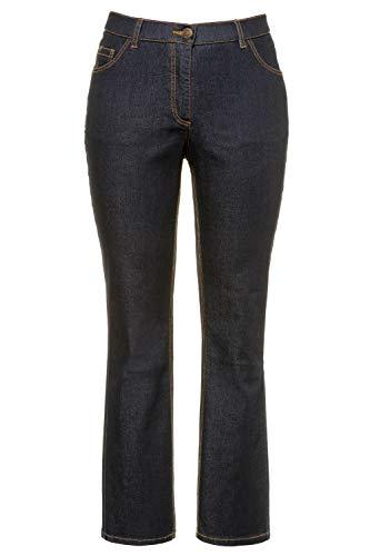 Ulla Popken Damen Marie, Komfortbund, 5-Pocket Bootcut Jeans, Blau (Dark Denim 93), (Herstellergröße:54)
