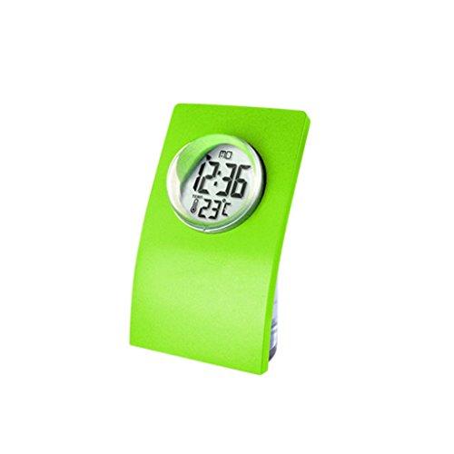 Orologio da Tavolo Verde Rosso con Sveglia Ad Acqua Orologio da 24 Ore con Display Digitale LCD - Verde