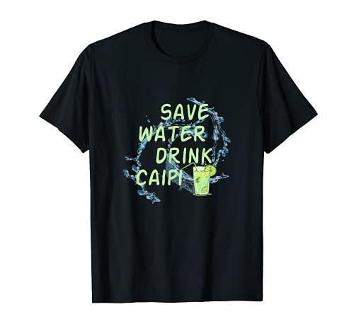 Ich will Saufen Lustig Mallorca Sauf Save Water drink Caipi T-Shirt